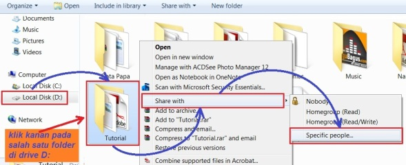 b4. sharing folder