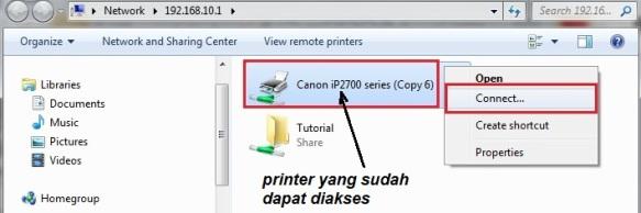 c6. akses printer