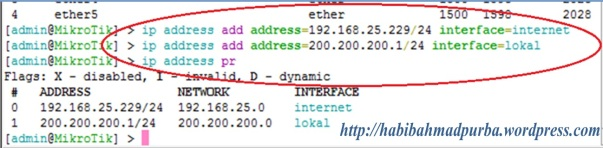 mikrotik-ip address