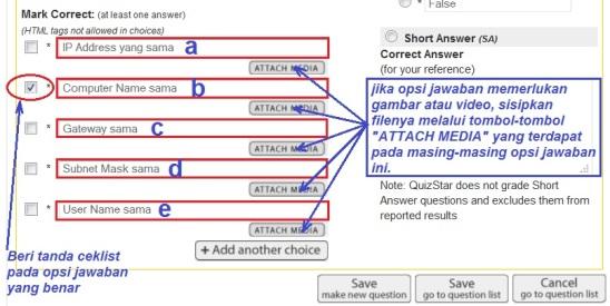 e12. opsi jawaban
