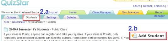 g2. add student